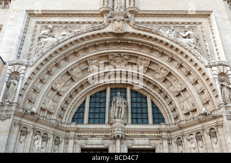 Main entrance of the Victoria and Albert Museum London England UK - Stock Photo