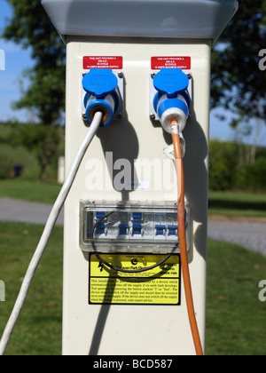 Electrical hook up in french campsites