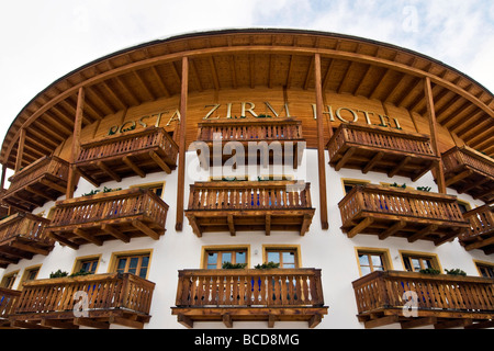 Posta Zirm Hotel Corvara in Badia Bolzano Italy - Stock Photo