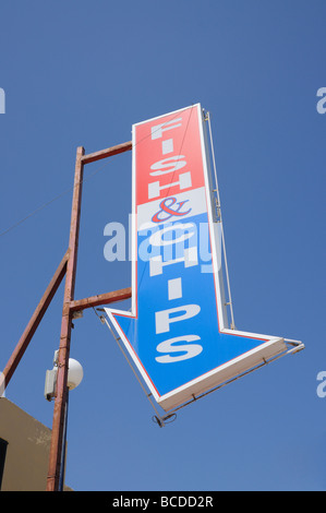 Fish And Chips Restaurant Sign Stock Photo, Royalty Free Image: 29966625 - Alamy