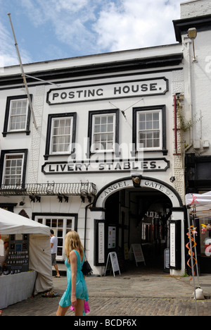 Angel Posting House and Livery hotel Guildford Surrey England UK - Stock Photo