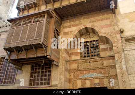 Khan el Khalili  Islamic Cairo Egypt Bazaar Souk  The souk dates back to 1382 Emir Djaharks el-Khalili  caravanserai - Stock Photo
