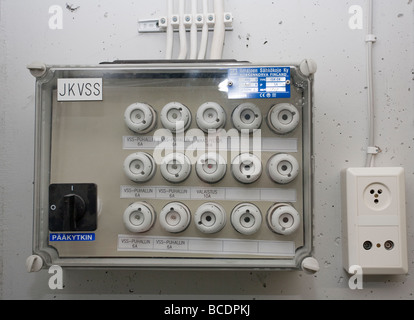 Closeup of fuse box ( breaker panel ) - Stock Photo