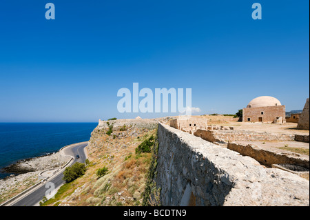 View from the walls of the 16th Century Venetian Fortezza (Fortress), Rethymnon, North West Coast, Crete, Greece - Stock Photo