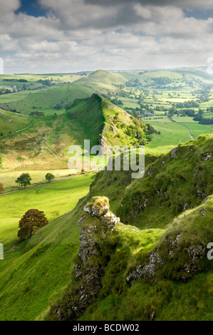 Parkhouse Hill from The Top of Chrome Hill, Peak District National Park, Derbyshire, England, UK - Stock Photo