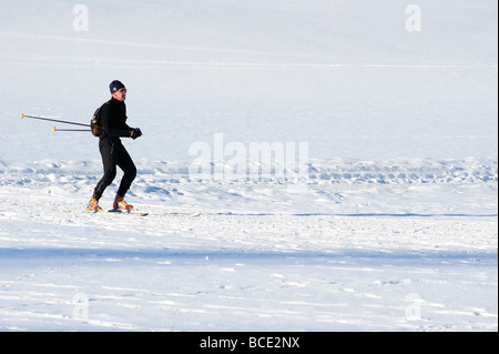 A man cross country skiing - Stock Photo
