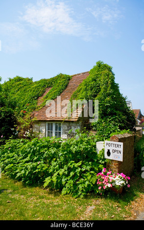 Pottery, Slindon Village, West Sussex, UK - Stock Photo