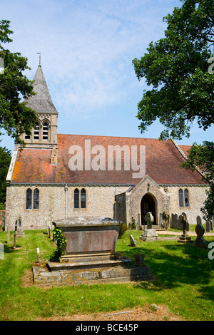 St Mary's church, Slindon Village, West Sussex ,UK - Stock Photo