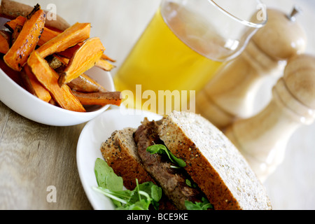 Steak Sandwich - Stock Photo