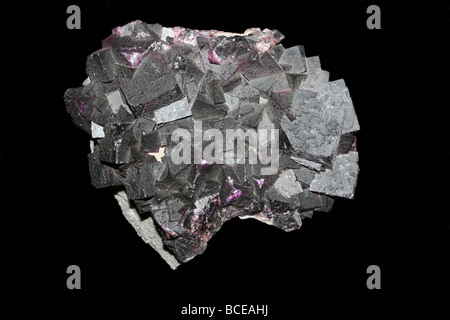 Geological Mineral Fluorite Illinois, USA - Stock Photo