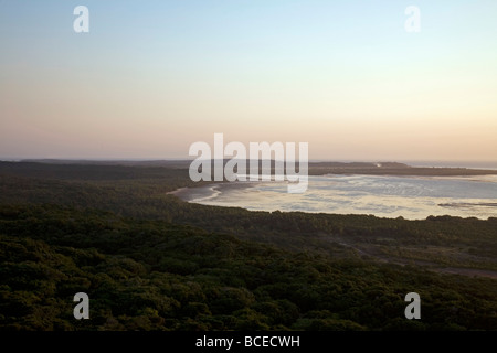 Mozambique, Inhaca Island. View from the Northern Lighthouse on Inhaca Island. - Stock Photo