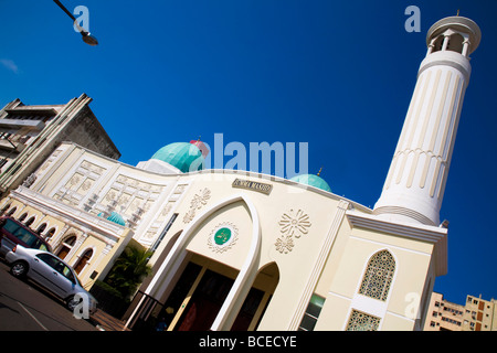 Mozambique, Maputo. The Jumma Masjid Mosque in the Baixa district of Maputo is well kept and much-frequented. - Stock Photo