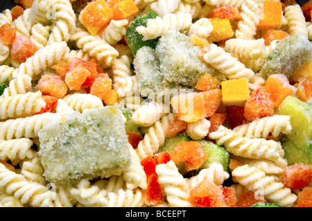 Frozen ready-cooked pasta - Stock Photo