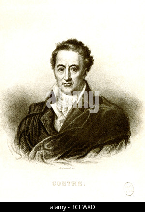 Johann Wolfgang von Goethe (1749-1832) was a German poet, dramatist, and novelist. #8;He is best known for his work - Stock Photo