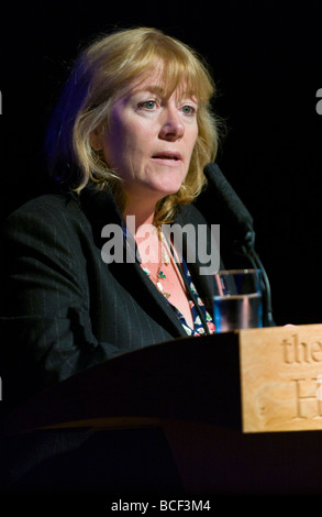 Documentary filmaker and writer Hannah Rothschild pictured speaking at Hay Festival 2009 - Stock Photo