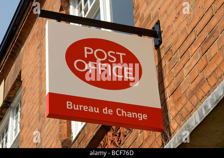 a royal mail post office bureau de change currency exchange stock photo royalty free image