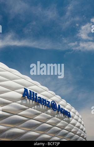 Germany, Bayern/Bavaria, Munich, Allianz Arena Football Stadium - Stock Photo