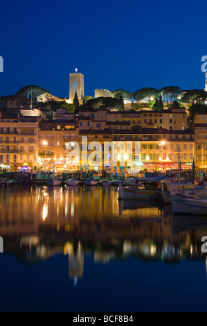 France, Provence-Alpes-Cote d'Azur, Cannes, Old Town Le Suquet, Vieux Port (Old Harbour) - Stock Photo
