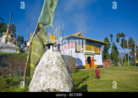 India, Sikkim, Pelling, Sangachoeling Gompa, the second oldest Gompa in Sikkim - Stock Photo