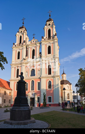 Lithuania, Vilnius, St Catherine's Church and the Benedictine Nunnery - Stock Photo