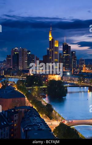 Germany, Hessen, Frankfurt-am-Main, Skyline - Stock Photo