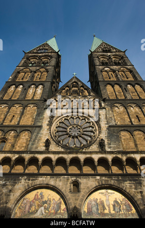 Germany, State of Bremen, Bremen, Dom St. Petri cathedral - Stock Photo