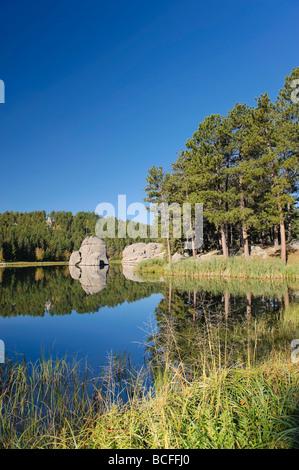 Sylvan Lake, Black Hills National Forest, Custer State Park, South Dakota - Stock Photo