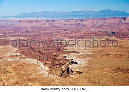 Red rock canyons of Canyonlands National Park, Utah. - Stock Photo