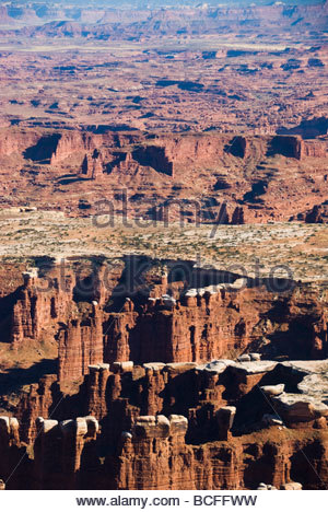 Red canyon mesa and landscape of Canyonlands National Park, Utah - Stock Photo