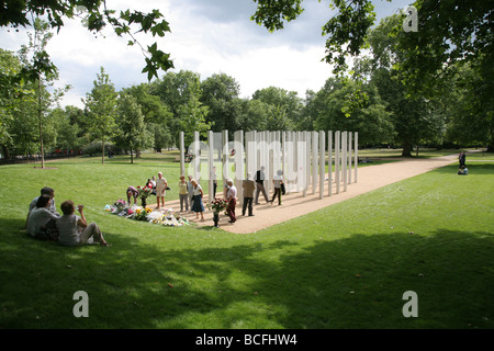 Memorial to the victims of the London terrorist attack on 7th July 2005, Hyde Park, London, UK - Stock Photo
