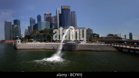 Singapore city skyline - Stock Photo