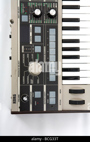 Korg micro korg synthesizer on white - Stock Photo