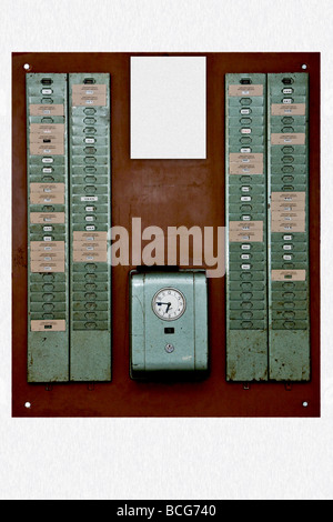 Old time punch clock - Stock Photo