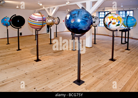 Artistically globes - Stock Photo