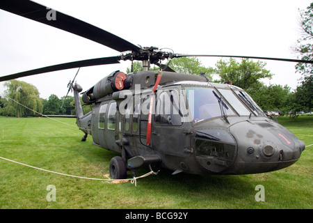 US Army Sikorsky UH-60 Black Hawk. At Cantigny park. - Stock Photo