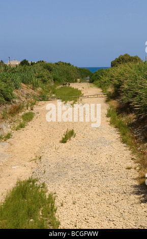 One of the many dried up Streams during the summer months on Crete - Stock Photo