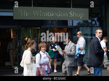 The Wimbledon Shop entrance - Stock Photo