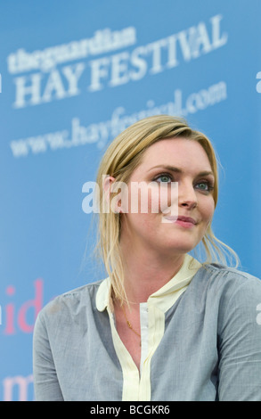 Sophie Dahl British author and former model pictured at Hay Festival 2009 - Stock Photo