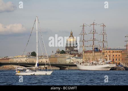 Russia. St. Petersburg. International training regatta sailboats. 'The tall ships races Baltic - 2009.' - Stock Photo
