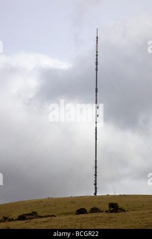 caradon hill tv mast cornwall - Stock Photo