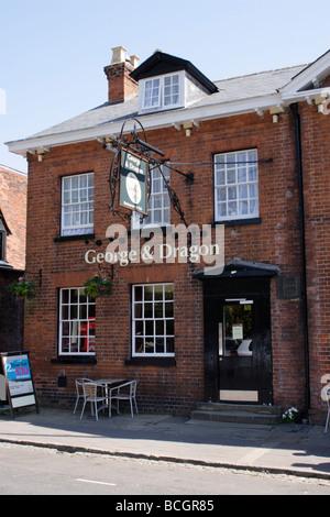 George and Dragon Pub Marlow Buckinghamshire - Stock Photo