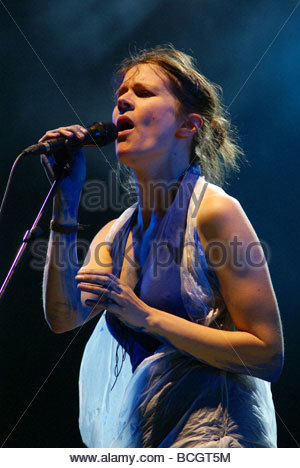 French singer Camille performing live - Stock Photo