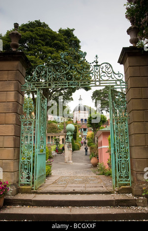 The fantasy village of Portmeirion in North Wales. - Stock Photo