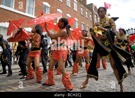 Performers in costume at St Pauls Carnival Bristol, England, UK - Stock Photo