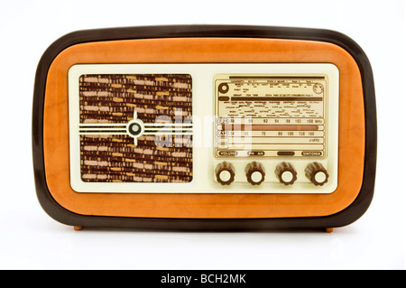Old radio on a white background - Stock Photo