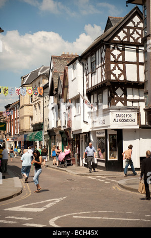 High Street Leominster Herefordshire England UK - Stock Photo
