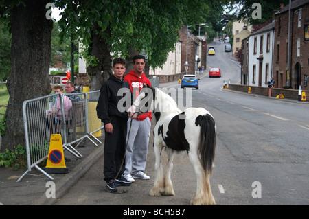 Scenes from Appleby Horse Fair 2009. Lots of rain, but still nice gypsie stuff going on. - Stock Photo