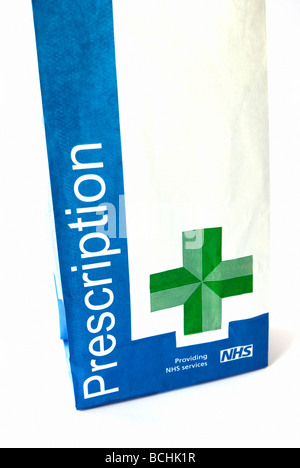 NHS prescription bag - Stock Photo
