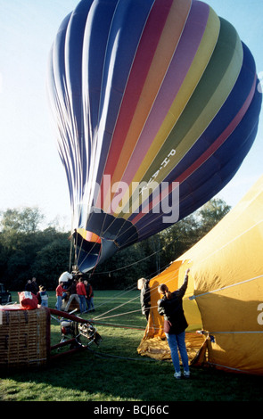 Ballooning, blowing air in a bal - Stock Photo