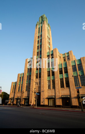 Historic Bullock s Wilshire department store now used by Southwestern School of Law Art Deco architectural style - Stock Photo